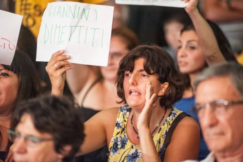 Giannini contestata alla festa del Pd 11