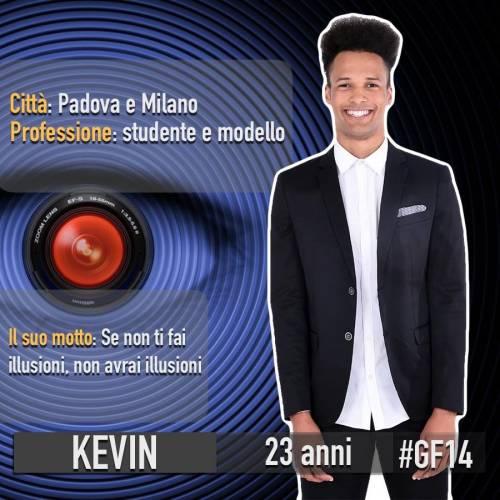Grande Fratello 14: Kevin è il terzo concorrente