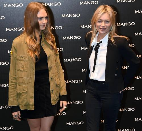 Cara Delevingne e Kate Moss a Milano, folla in delirio 10