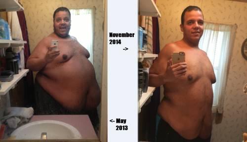 Perde oltre 150 chili, ecco il prima e dopo