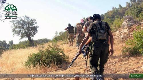 Miliziani di Ahrar al-Sham, fazione islamista tra le più attive in Siria