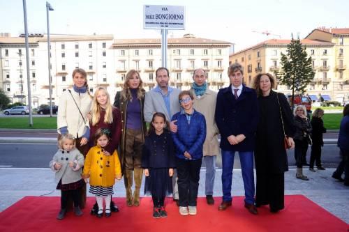 L'inaugurazione di via Mike Bongiorno