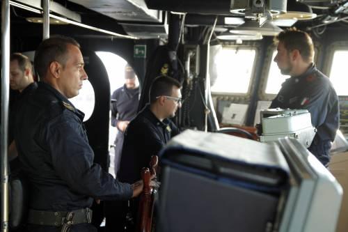 A bordo della fregata Aliseo 2