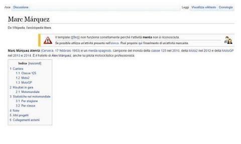 Wikipedia, hackerati i profili di Lorenzo, Marquez e Biaggi 7