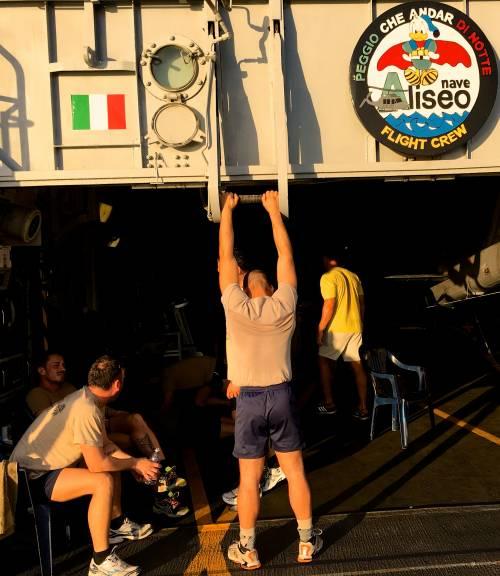 La Fregata Aliseo si addestra 4