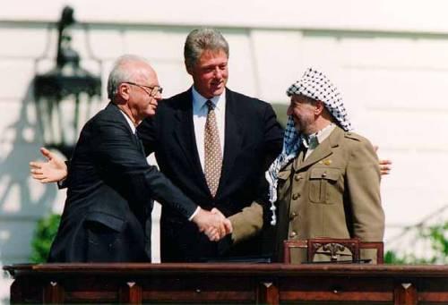 Rabin, Clinton e Arafat (13 Settembre 1993)
