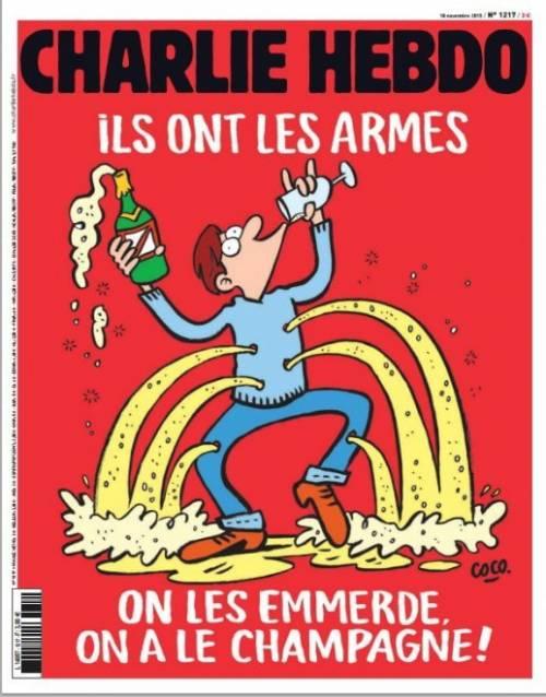 """Charlie Hebdo: """"Loro hanno le armi, noi lo champagne"""""""