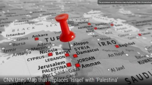 La Cnn cancella lo Stato di Israele dalla mappa del Medio Oriente