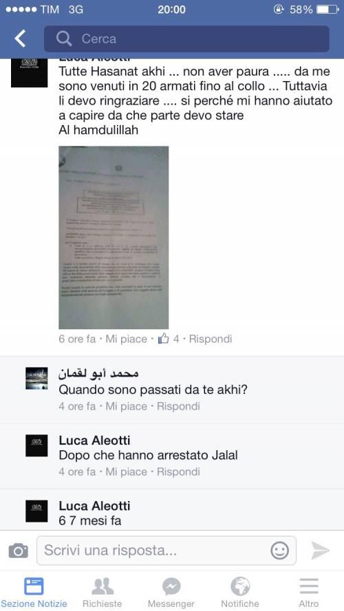"Gli screenshot che ""inchiodano"" Luca  13"
