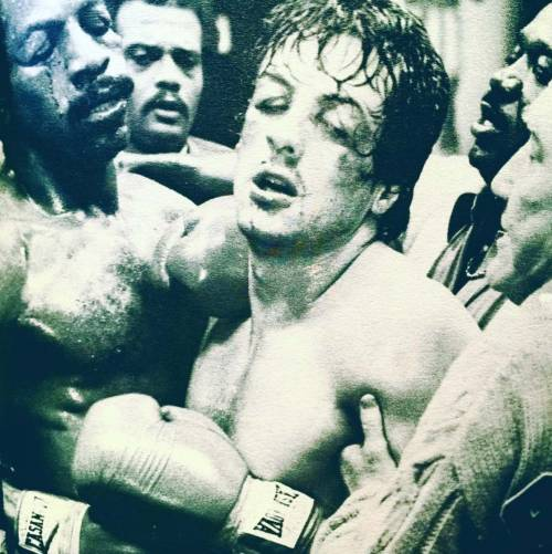 Sylvester Stallone nelle foto di scena di Rocky 3