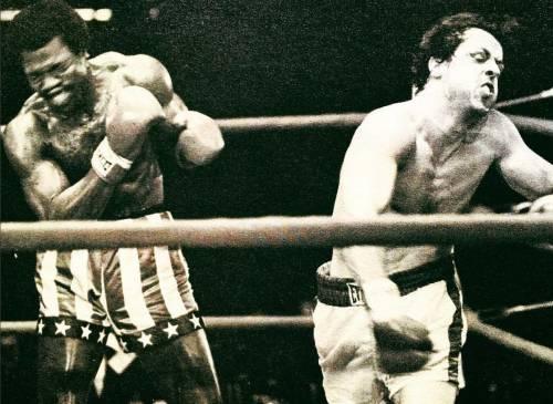 Sylvester Stallone nelle foto di scena di Rocky 6