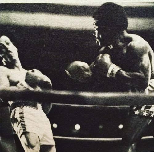 Sylvester Stallone nelle foto di scena di Rocky 23