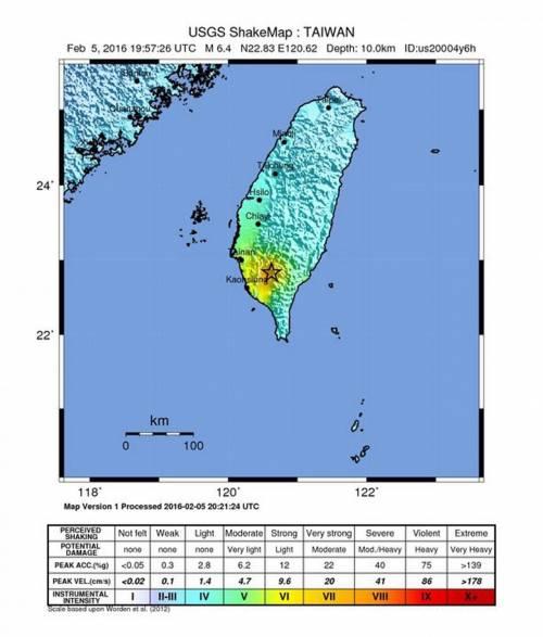 Terremoto a Taiwan, edifici crollati 8