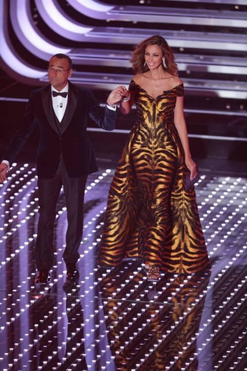 Sanremo 2016: gli abiti della prima serata 76