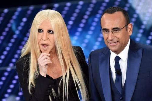 """Virginia Raffaele si """"trasforma"""" in Donatella Versace: le foto 4"""