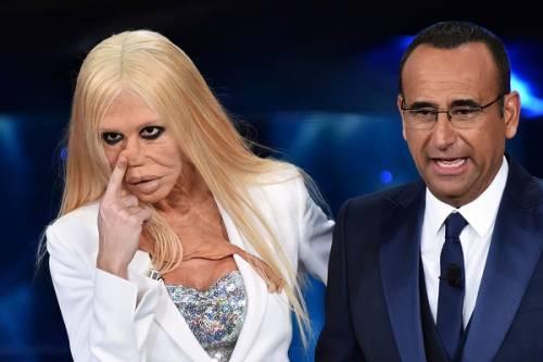 """Virginia Raffaele si """"trasforma"""" in Donatella Versace: le foto 6"""