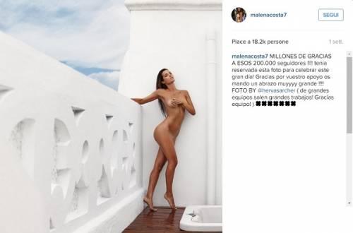 Malena Costa nuda su Istagram: foto 2