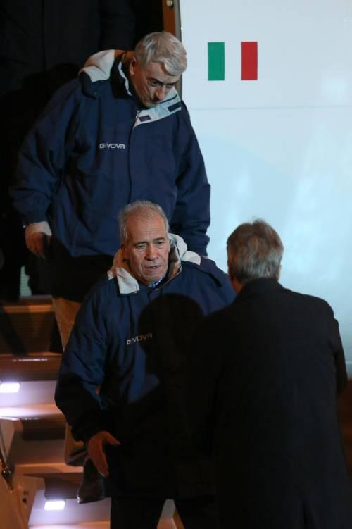 Gli ex ostaggi sono arrivati a Ciampino 3
