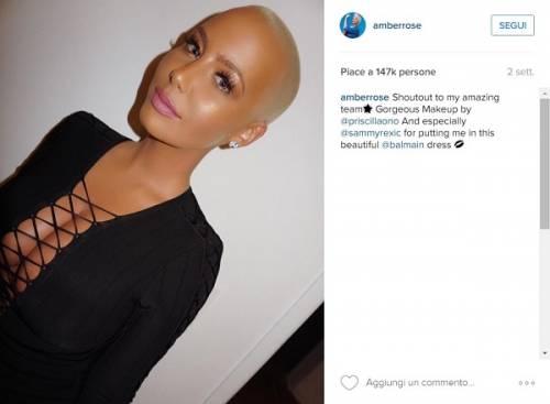Amber Rose, anche l'ex di Kanye West difende il selfie hot di Kim Kardashian: foto 8