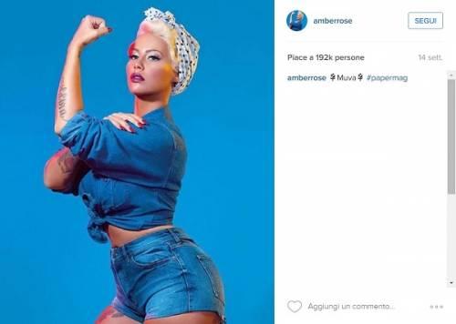 Amber Rose, anche l'ex di Kanye West difende il selfie hot di Kim Kardashian: foto 20