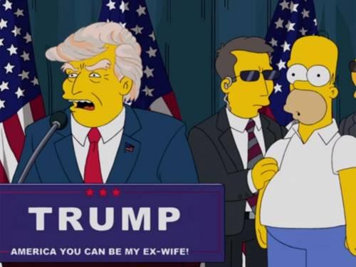 """I Simpsons contro la vittoria di Donald Trump: """"Avere ragione fa schifo"""""""