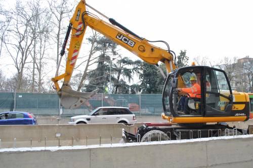 I lavori per la M4 di Milano 5