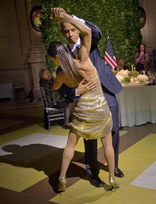 Obama balla il tango in Argentina 5