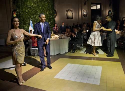 Obama balla il tango in Argentina 4