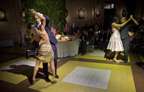 Obama balla il tango in Argentina 2