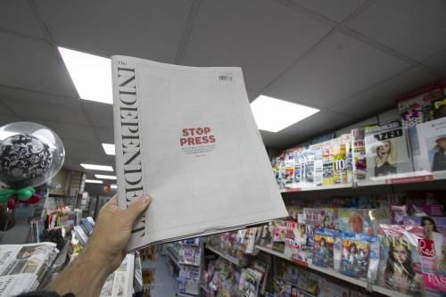 """Per il """"The Independent"""" si chiude un'era: stop al giornale di carta"""