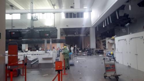 La devastazione a Zaventem dopo l'attentato jihadista 4