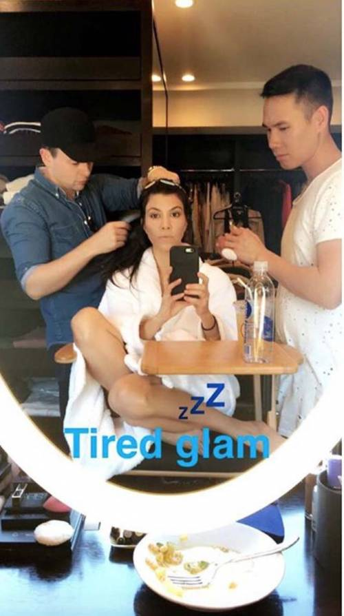 Kourtney Kardashian su Snapchat 11