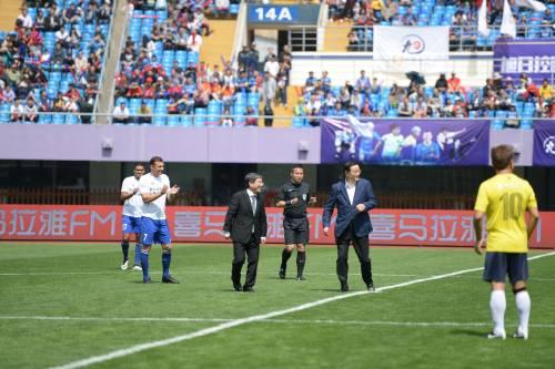 """Il """"Legend team"""" italiano porta il calcio in Cina  4"""