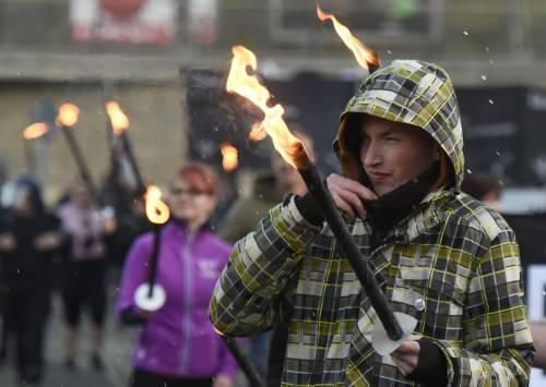 Germania, la manifestazione di Thuegida contro l'islam 8