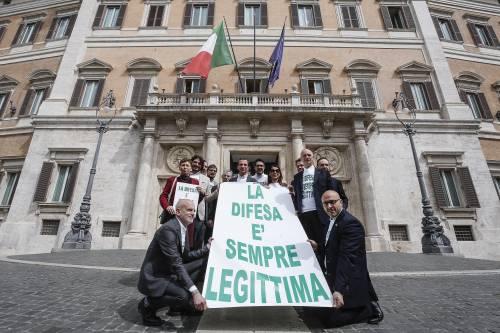 La protesta della Lega per la legittima difesa 3