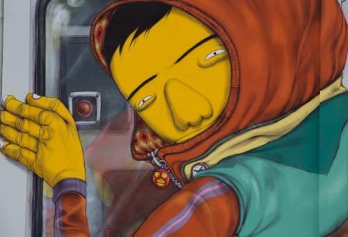 Osgemeos, il murales sul Pirelli Hangar Bicocca 4