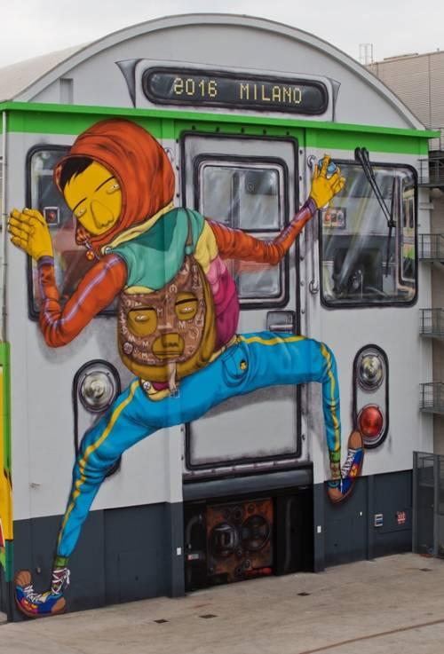 Osgemeos, il murales sul Pirelli Hangar Bicocca 5