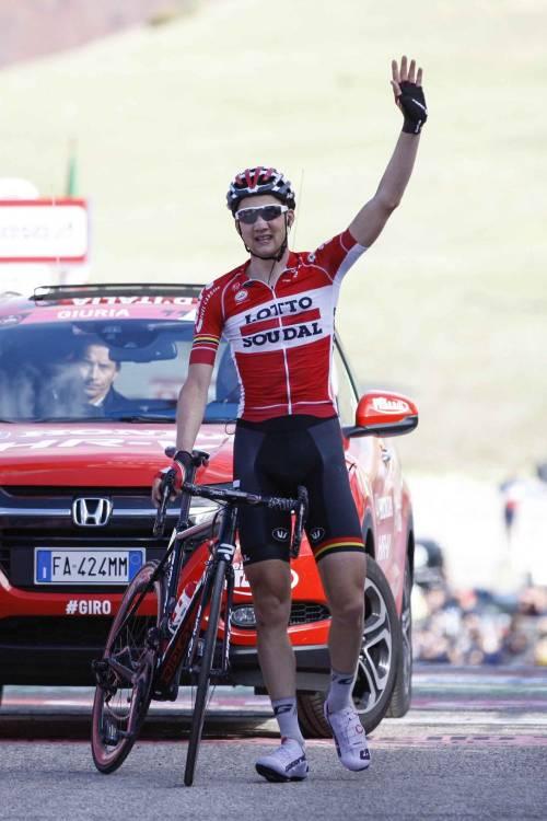 Giro, Roccaraso incorona Wellens. Dumoulin spaventa Nibali e i big