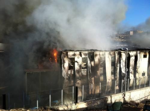 Lampedusa, incendio 2011