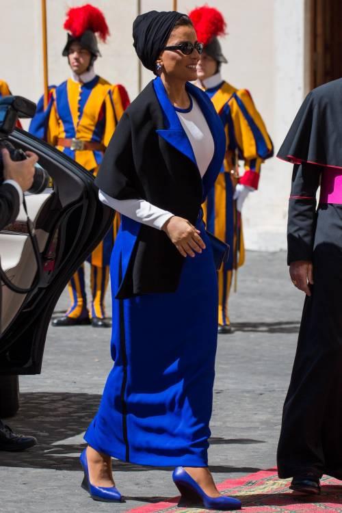 Papa Francesco riceve in Vaticano la sceicca del Qatar 6