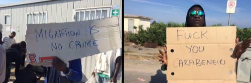 """Rosarno, l'odio dei migranti: """"Fuck you carabinieri razzisti"""""""