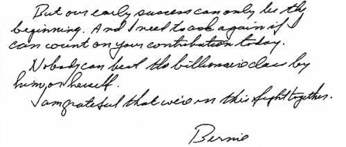 Le firme e gli scritti di Clinton, Trump e Sanders 2