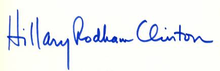 Le firme e gli scritti di Clinton, Trump e Sanders 4