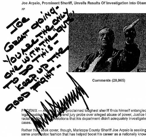 Le firme e gli scritti di Clinton, Trump e Sanders 5