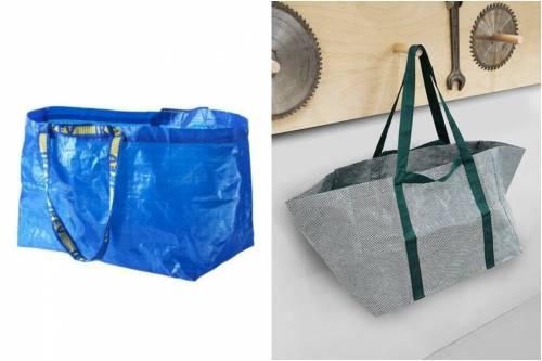 Ikea manda in pensione i classici sacchetti blu for Porta sacchetti ikea