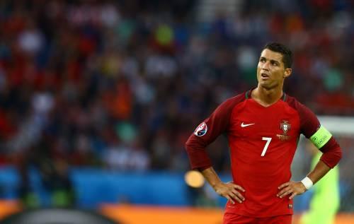 Ronaldo perde la testa e scaglia in acqua il microfono di un giornalista