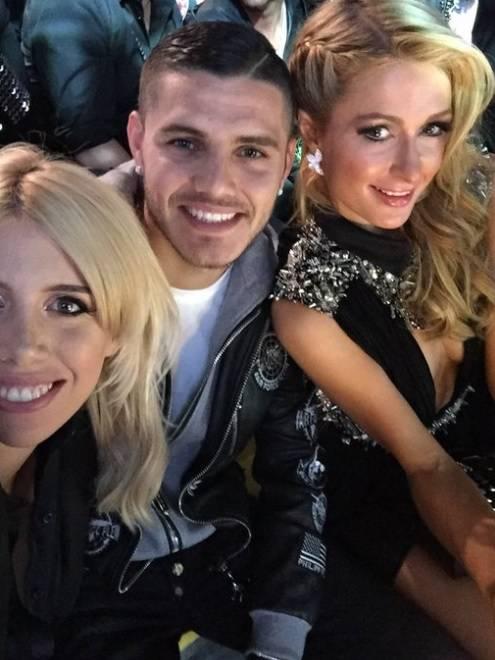 Mauro Icardi con Paris Hilton