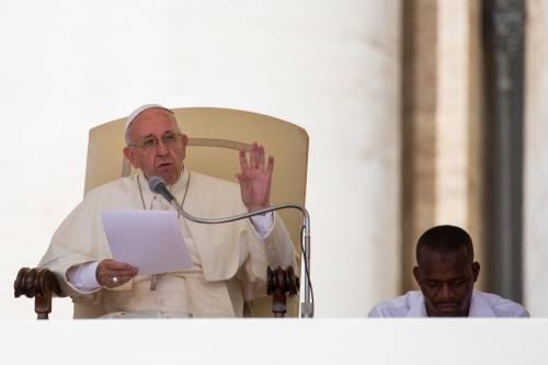 Papa Francesco con gli immigrati in San Pietro 18