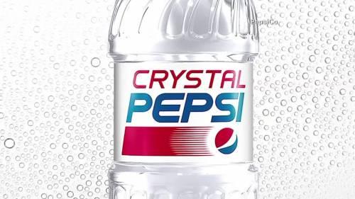 """Pepsi è pronta a riportare sul mercato la variante """"Crystal"""""""