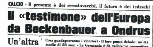 1976, la Cecoslovacchia dei poveri ma belli si prende la coppa con il «cucchiaio»